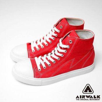 【美國 AIRWALK】復古圓頭高筒基本款帆布鞋 -(男女同款)-共三色
