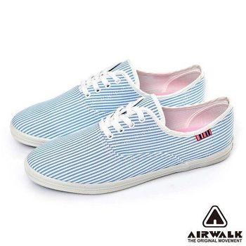 【美國 AIRWALK】繽紛馬卡龍經典條紋帆布鞋 -女-共四色