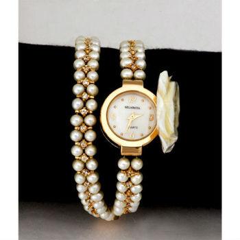 克萊米亞珍愛玫瑰珍珠腕錶