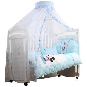 【vivibaby】迪士尼嬰兒床蚊帳(米奇藍/米妮粉)