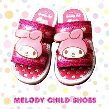 【Melody】兒童室內按摩拖鞋-愛心Melody 粉紅