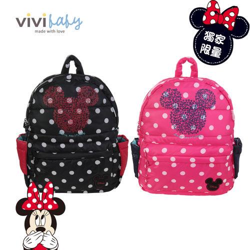 【ViVibaby】迪士尼空氣媽媽包-大後背(粉/黑)