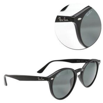 【Ray Ban】亞洲版-復古圓框墨綠太陽眼鏡(RB2180-F 601/71)