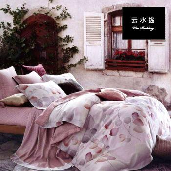 【韋恩寢具】天絲香花戀兩用被床包組-雙人/云水搖
