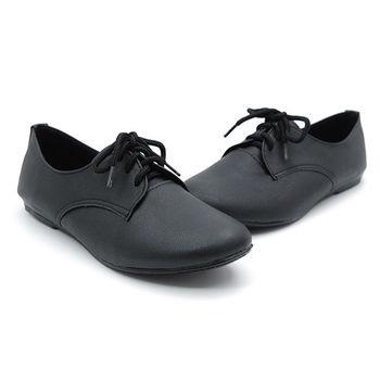 【cher美鞋】學院風牛津鞋 (黑色)891-63