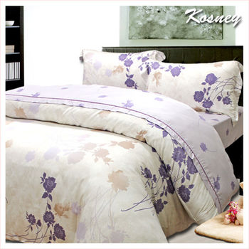【KOSNEY】花語呢喃  加大100%天絲TENCEL四件式兩用被床包組