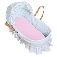 加拿大 kushies 純棉棉絨提籃床包 46x76cm #40 粉紅 #41