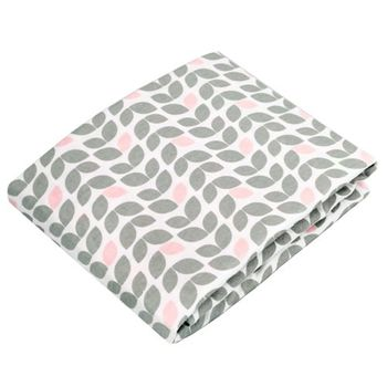 加拿大 kushies 純棉遊戲床床包 74x107cm (淺灰花)