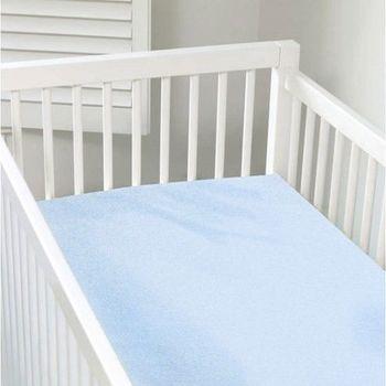 加拿大 kushies 有機棉嬰兒床床包 70x140cm (粉藍色)