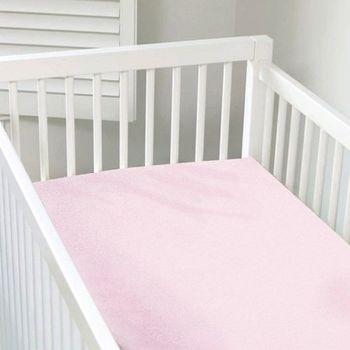 加拿大 kushies 有機棉嬰兒床床包 70x140cm (粉紅色)