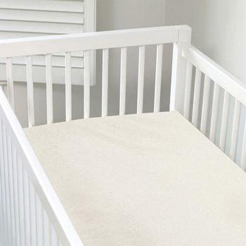 加拿大 kushies 有機棉嬰兒床床包 70x140cm (乳白色)