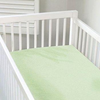 加拿大 kushies 有機棉嬰兒床床包 70x140cm (粉綠色)