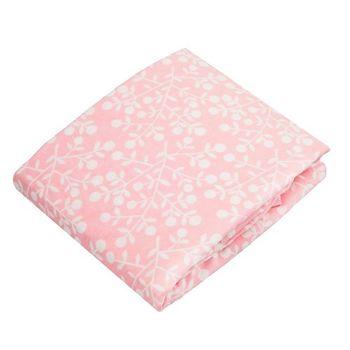 加拿大 kushies 純棉嬰兒床床包 70x140cm (粉紅花紋)