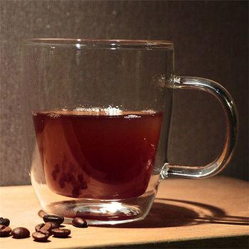 Artist精選 耐熱玻璃卡布奇諾/摩卡/拿鐵雙層咖啡杯/馬克杯360ml