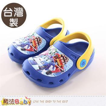 魔法Baby 男童鞋 台灣製POLI正版水陸兩用輕便鞋~sa61026