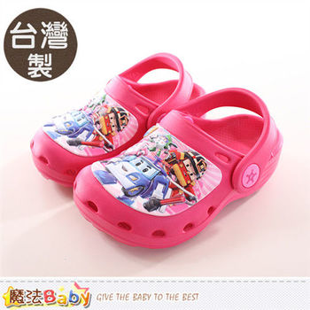 魔法Baby 女童鞋 台灣製POLI正版水陸兩用輕便鞋~sa61023