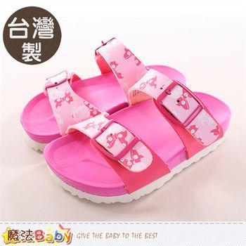 魔法Baby 女童鞋 台灣製迪士尼米妮正版涼拖鞋~sh9747