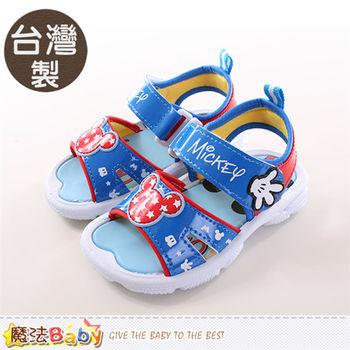魔法Baby 兒童涼鞋 台灣製迪士尼米奇正版涼鞋~sh9701