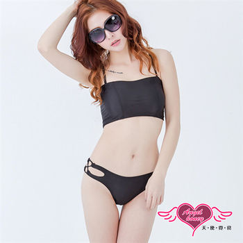 天使霓裳 泳衣 裸背線條 平口兩件式泳裝(黑M~XL)
