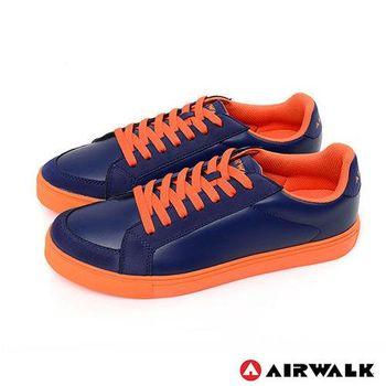 【美國 AIRWALK】史密斯先生美式仿皮革圓頭色休閒板鞋 -男-共三色