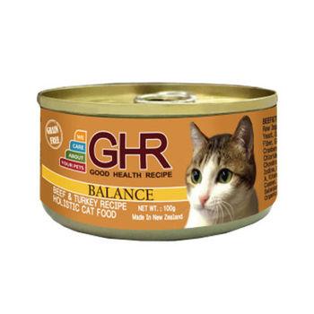 【PREMIER】健康主義 GHR無榖牛肉、火雞肉配方貓用主食罐 100G x 24入