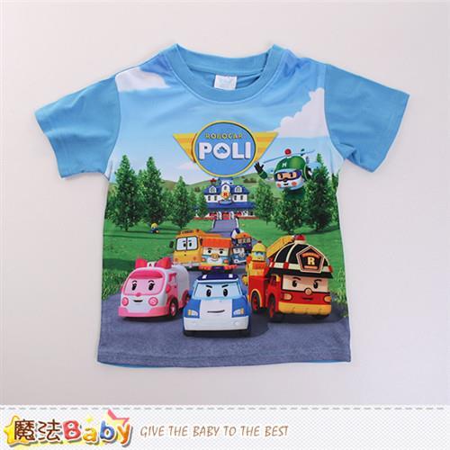 魔法Baby 男童裝 POLI波力授權正版短袖T恤~k50104