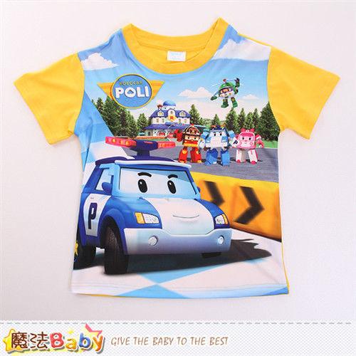 魔法Baby 男童裝 POLI波力授權正版短袖T恤~k50103