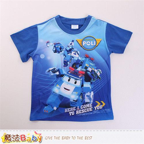 魔法Baby 男童裝 POLI波力授權正版短袖T恤~k50102