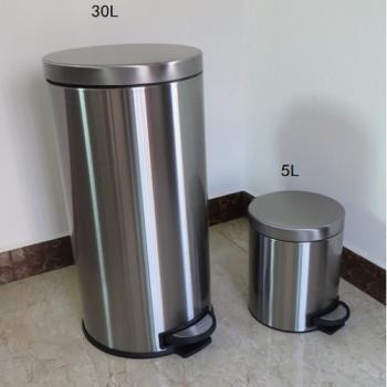 【協貿】歐式30L腳踏全不銹鋼靜音垃圾桶