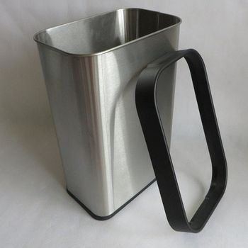 【協貿】長方形12L無蓋垃圾桶紙婁不銹鋼創意用品