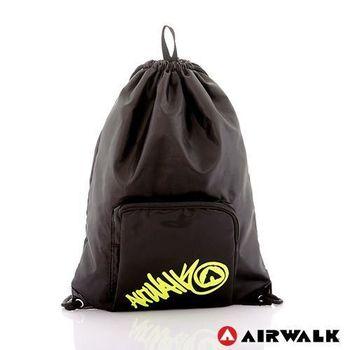 【美國AIRWALK】輕便休閒尼龍束口後背包(共九色)