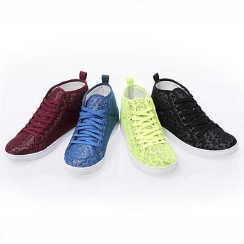 【美國 AIRWALK】靚亮豹紋系列 - 豹紋內增高鞋-共四色