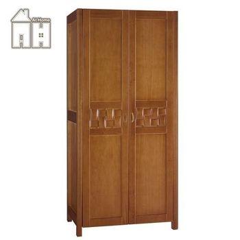 【AT HOME】編織3尺柚木單吊開門衣櫃