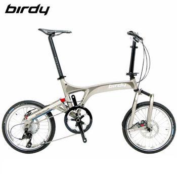 Birdy Shimano 10速 碟剎版折疊單車(髮絲紋+黑金油)