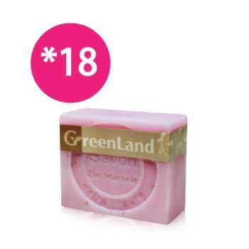 GreenLand 玫瑰香氛絲滑平衡馬賽皂18入(團購優惠組)