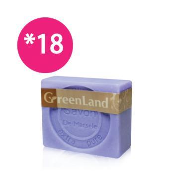 GreenLand 72%初榨橄欖薰衣草馬賽皂18入(團購省錢組)