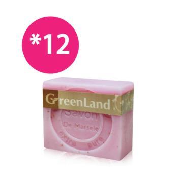 GreenLand 玫瑰香氛絲滑平衡馬賽皂12入(超值組)