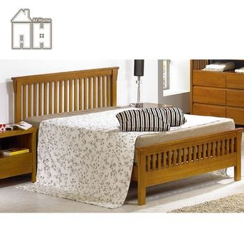 【AT HOME】魯娜6尺柚木雙人床(不含床墊)