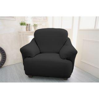 【Osun】一體成型防蹣彈性沙發套 個性黑色款1人座