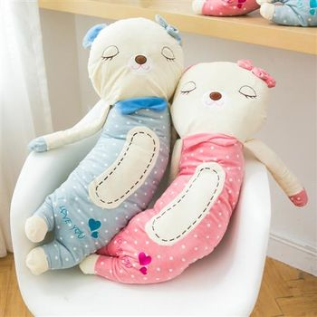 【ZARATA】可愛彎彎瞌睡熊絨毛玩具抱枕(60cm)