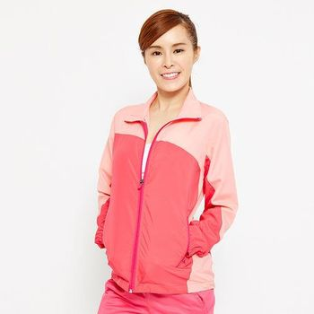 FIVE UP-繽紛配色吸排抗UV風衣薄外套-紫紅