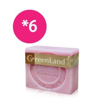 GreenLand 玫瑰香氛絲滑平衡馬賽皂6入(香氛組)