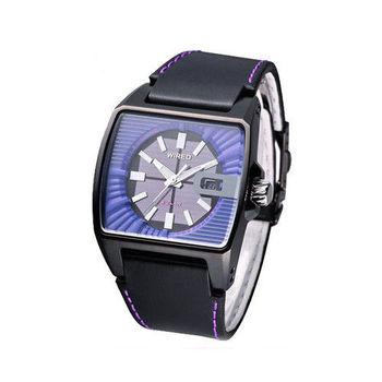 【ALBA WIRED】普普風魅力紫太陽能時尚腕錶 V145-X013T / AUA011X