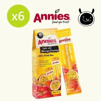 【壽滿趣- 紐西蘭原裝進口】Annies 全天然水果條(百香芒果6盒36片家庭裝)