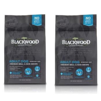 【BlackWood】柏萊富 特調成犬活力(雞肉+米) 15磅 X 2包