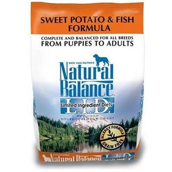 【Natural Balance】低敏系列 無榖地瓜鮭魚 -全犬 4.5磅 x 1包