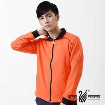 【遊遍天下】台灣製男款抗UV防風吸濕排汗機能外套(桔色)
