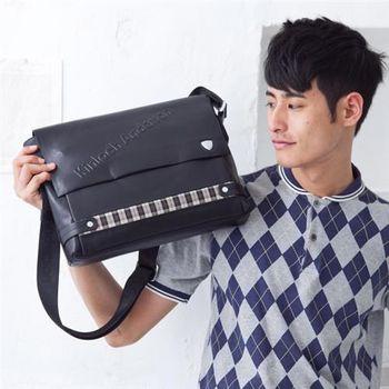 【金安德森】專業型男風 品味掀蓋斜側公文包