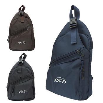 RK-1 運動風素色輕巧單肩斜背包胸包 V-103 (共三色 咖啡色/黑色/藍色)