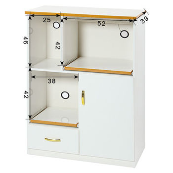 【顛覆設計】潮濕剋星-2.8尺防水塑鋼餐櫃/電器櫃